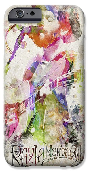 Piano iPhone Cases - Ray Lamontagne Portrait iPhone Case by Aged Pixel