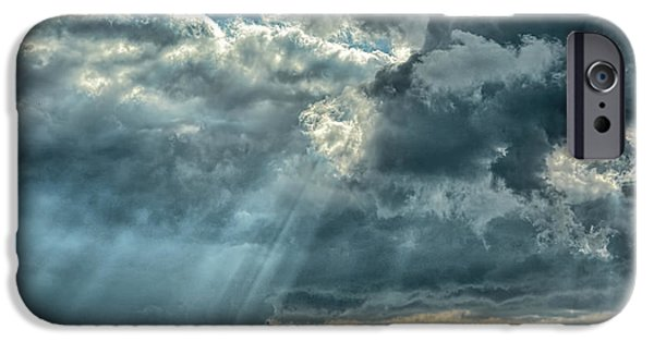 Sun Breaking Through Clouds iPhone Cases - Rays From Heaven iPhone Case by Jai Johnson