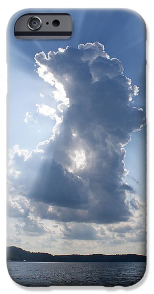 Sun Rays Drawings iPhone Cases - Rays of a Beautiful Day iPhone Case by Cathy Still