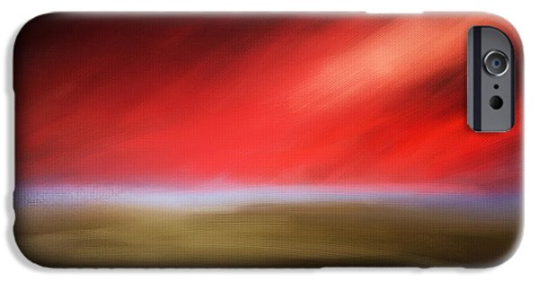 Abstract Seascape iPhone Cases - Rays Of Grandeur iPhone Case by Lourry Legarde
