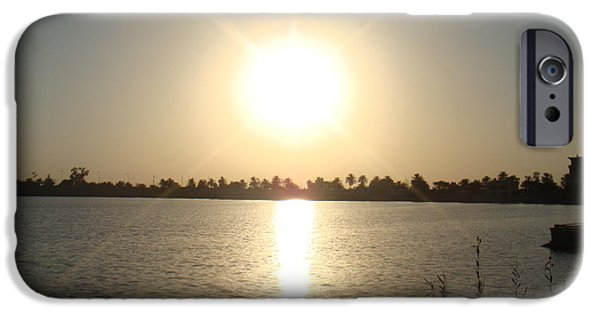 Baghdad iPhone Cases - Rays of Sunset iPhone Case by Sharla Fossen