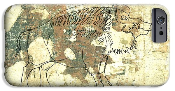 Arkansas Drawings iPhone Cases - Cave Painting 2 iPhone Case by Larry Campbell