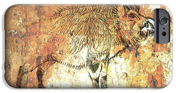Arkansas Drawings iPhone Cases - Cave Painting 5 iPhone Case by Larry Campbell