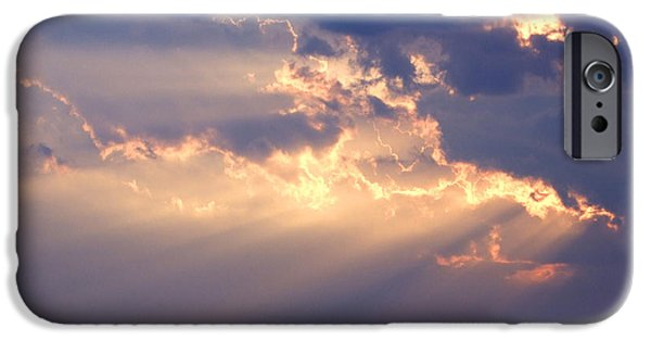 Sun Rays Digital iPhone Cases - Reach for the Sky 2 iPhone Case by Mike McGlothlen
