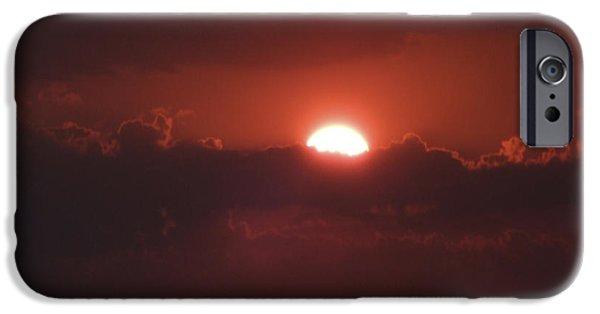 Sun Rays Digital Art iPhone Cases - Reach for the Sky 3 iPhone Case by Mike McGlothlen