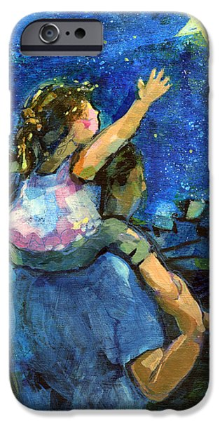 Daughter Gift iPhone Cases - Reach for the Stars iPhone Case by Jen Norton