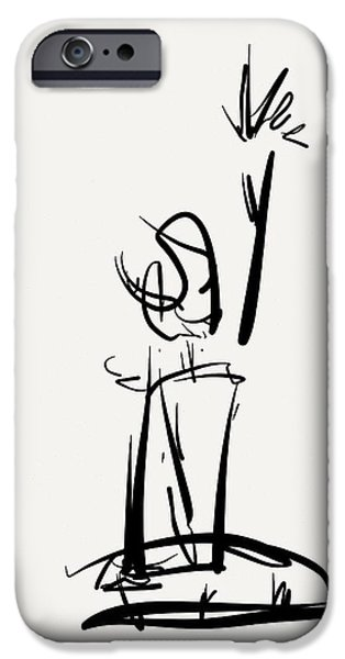 Gestures Drawings iPhone Cases - Reach iPhone Case by Kevin Houchin