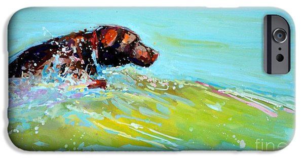 Water Retrieve iPhone Cases - Reach iPhone Case by Molly Poole