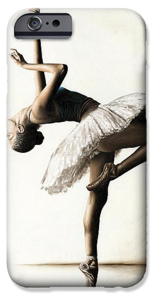 Dancer iPhone Cases - Reaching for Perfect Grace iPhone Case by Richard Young