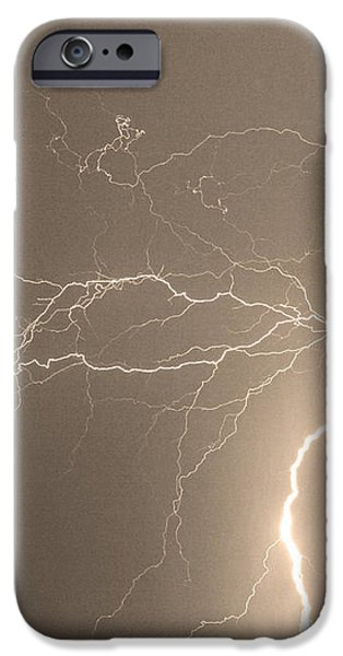 Reaching Out Touching Me Touching You Sepia iPhone Case by James BO  Insogna