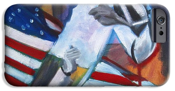 Civil Liberties Paintings iPhone Cases - Reaching Over Color iPhone Case by Katrina West