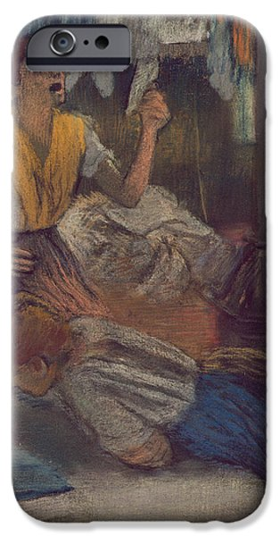 Shock iPhone Cases - Reading a Letter iPhone Case by Edgar Degas