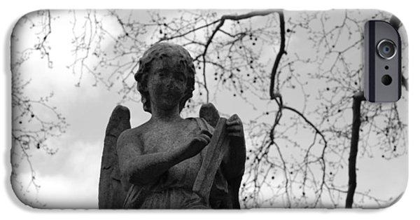 Seraphim Angel iPhone Cases - Reading Angel iPhone Case by Jennifer Lyon