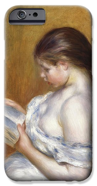 Reading iPhone Case by Pierre Auguste Renoir
