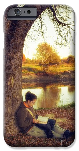 Homeless iPhone Cases - Reading Under the Tree iPhone Case by Carlos Caetano