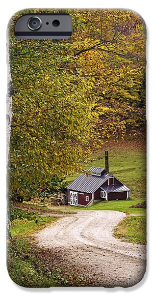 Sugaring Season iPhone Cases - Reading Vermont Sugar Shack iPhone Case by Priscilla Burgers