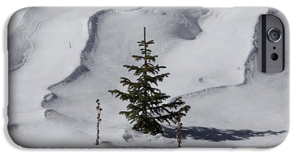 Snow Drifts Photographs iPhone Cases - Ready for Christmas iPhone Case by Ernie Echols