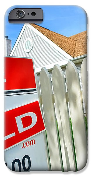Real Estate Sold Sign iPhone Case by Olivier Le Queinec