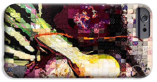Still Life Tapestries - Textiles iPhone Cases - Real Food Grown in Healthy Soil iPhone Case by Martha Ressler