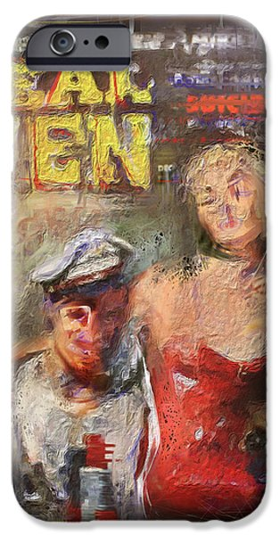 Chip Mixed Media iPhone Cases - Real Men iPhone Case by Russell Pierce