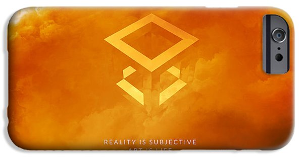 Reality iPhone Cases - Reality Motivational Art iPhone Case by LC Bailey