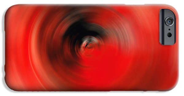 Red And Black iPhone Cases - Reality Red - Abstract Art By Sharon Cummings iPhone Case by Sharon Cummings