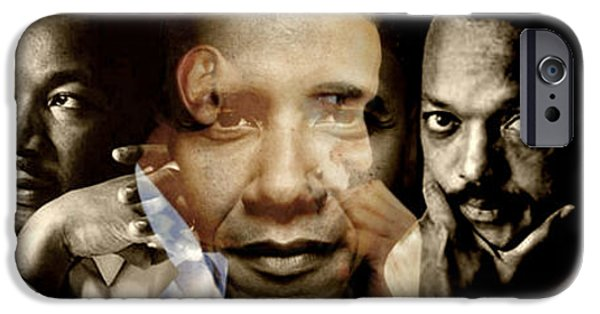President Barack Obama Photographs iPhone Cases - Realized iPhone Case by Lynda Payton