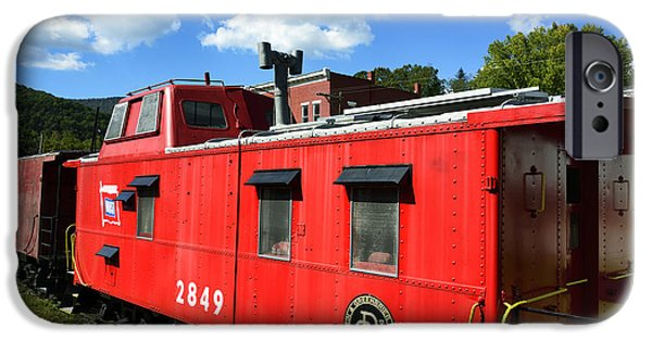 Caboose Photographs iPhone Cases - Really Red Caboose iPhone Case by Thomas R Fletcher