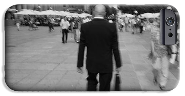 Three-quarter Length iPhone Cases - Rear View Of A Businessman Walking iPhone Case by Panoramic Images
