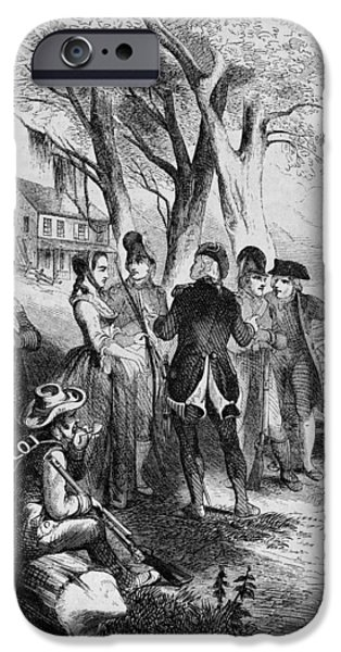 Patriots iPhone Cases - Rebecca Motte (1738-1815) iPhone Case by Granger
