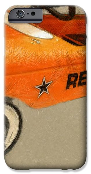 Rebel Pedal Car iPhone Case by Michelle Calkins