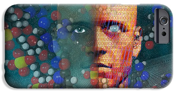 Cyberspace iPhone Cases - Rebirth iPhone Case by Carol and Mike Werner