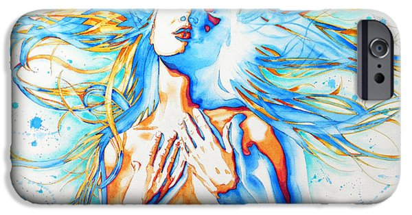 Vibrant Colors Drawings iPhone Cases - New Venus iPhone Case by Jose Espinoza