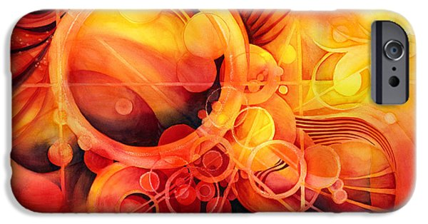 Flames Paintings iPhone Cases - Rebirth - Phoenix iPhone Case by Hailey E Herrera