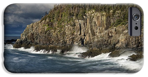Quoddy Head State Park iPhone Cases - Receding Storm at Gullivers Hole iPhone Case by Marty Saccone