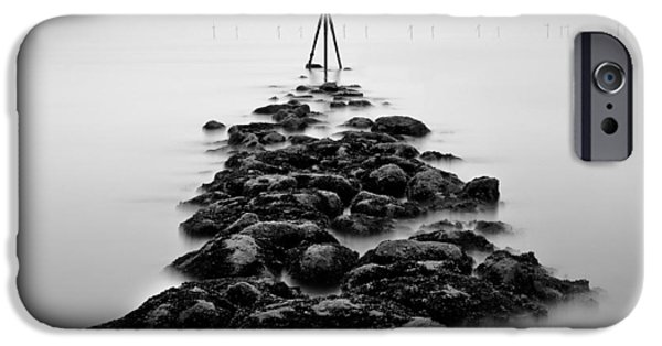 Marker iPhone Cases - Receding Tide iPhone Case by Dave Bowman