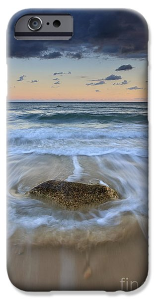 Receding Wave Stormy Seascape iPhone Case by Katherine Gendreau
