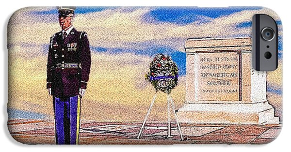 5th Infantry Regiment iPhone Cases - Recitation of the Requirements of Honor Guards iPhone Case by  Bob and Nadine Johnston