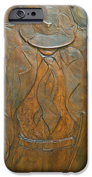 Bas Relief Reliefs iPhone Cases - Reckless Paternity iPhone Case by Jeremiah Welsh