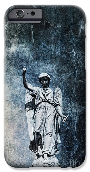 Angel Blues iPhone Cases - Reckoning Forces iPhone Case by Andrew Paranavitana