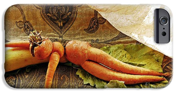 Spoof iPhone Cases - Reclining Nude Carrot iPhone Case by Sarah Loft
