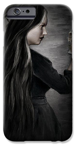 Macabre iPhone Cases - Recognition Of Death iPhone Case by Lourry Legarde