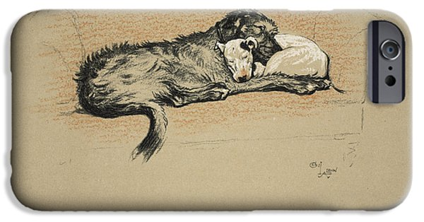 Black Dog iPhone Cases - Reconciliation, 1930, 1st Edition iPhone Case by Cecil Charles Windsor Aldin