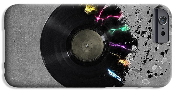 Animation iPhone Cases - Record iPhone Case by Mark Ashkenazi