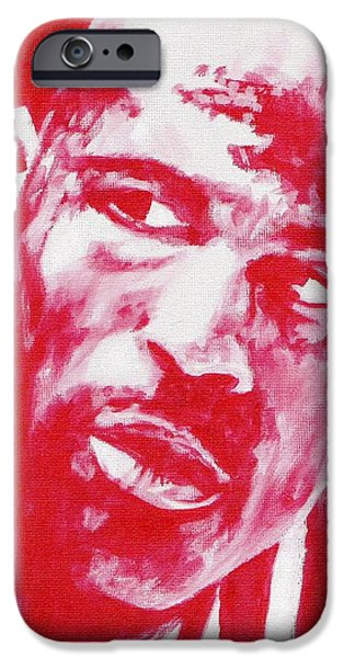 Nike Paintings iPhone Cases - Red Air iPhone Case by Paul Smutylo