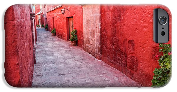 Catherine White Photographs iPhone Cases - Red Alley in Monastery iPhone Case by Jess Kraft