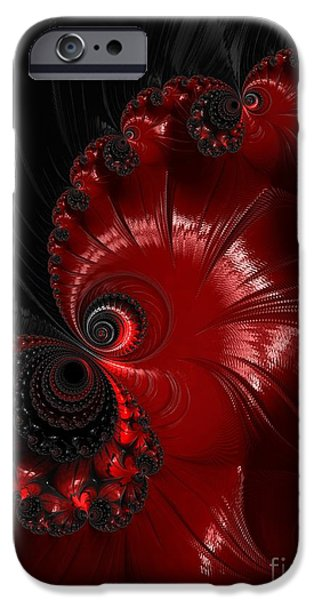 Strange iPhone Cases - Red And Black  iPhone Case by Heidi Smith