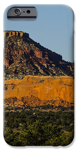 Red and Green Plateau New Mexico iPhone Case by Deborah Smolinske
