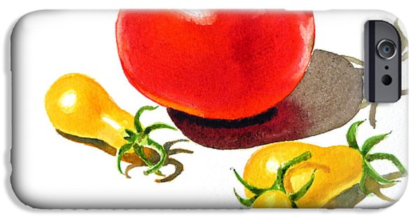 Red And Yellow iPhone Cases - Red And Yellow Tomatoes iPhone Case by Irina Sztukowski