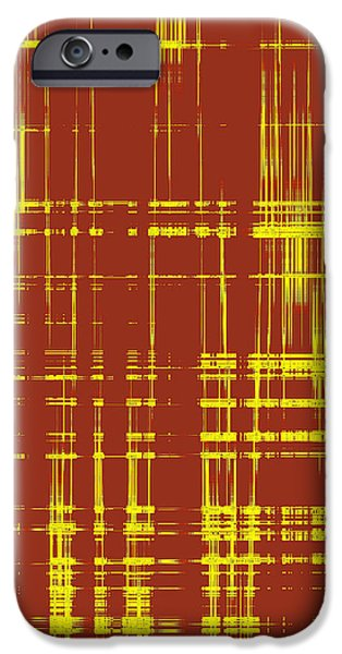 Ben Gertsberg Digital Art iPhone Cases - Red And Yellow Wave No 1 iPhone Case by Ben and Raisa Gertsberg